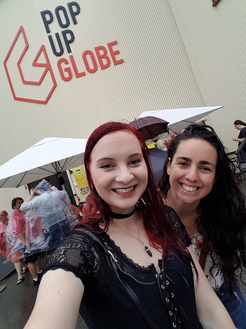 At the pop up globe